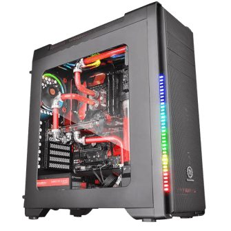 Gabinete Gamer Thermaltake Versa C21 RGB, Mid Tower, Com 1 Fan, Black, S-Fonte, CA-1G8-00M1WN-00