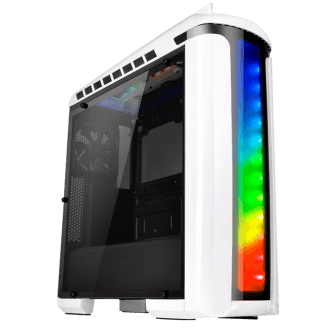 Gabinete Gamer Thermaltake Versa C22 RGB Snow Edition, Mid Tower, Com 1 Fan