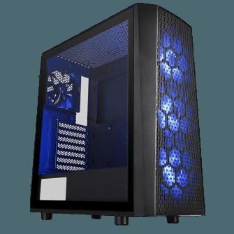 Gabinete Gamer Thermaltake Versa J24 RGB, Mid Tower, Com 4 Fans