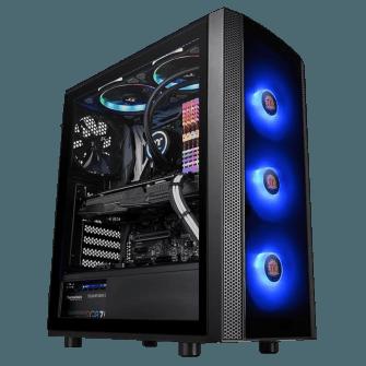 Gabinete Gamer Thermaltake Versa J25 RGB, Mid Tower, Com 4 Fans