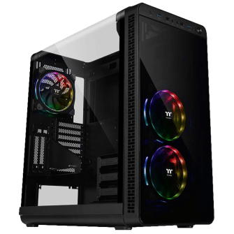Gabinete Gamer Thermaltake View 37 RGB, Mid Tower, Com 3 Fans