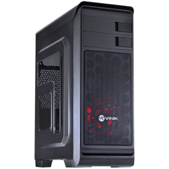 Gabinete Gamer Vinik Hunter Window, Mid Tower, Com 1 Fan Red