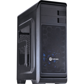 Gabinete Gamer Vinik Hunter Window, Mid Tower, Com 1 Fan Blue