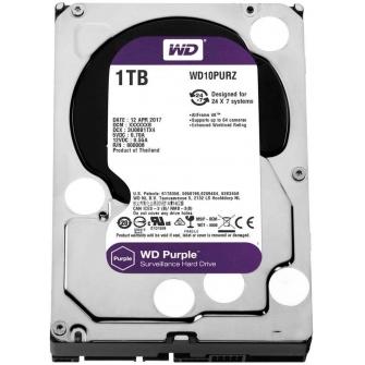 HD Western Digital Purple Surveillance 1TB, Sata III, 5400RPM, 64MB, WD10PURZ