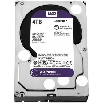 HD Western Digital Purple Surveillance 4TB, Sata III, 5400RPM, 64MB, WD40PURZ