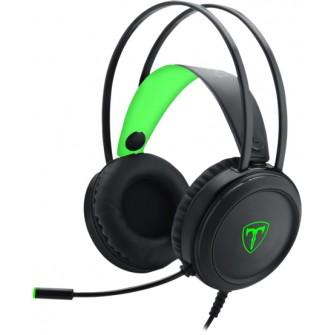 Headset Gamer T-Dagger Ural, Black e Green, T-RGH202