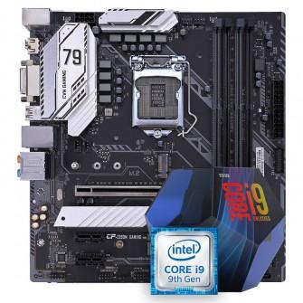 Kit Upgrade Placa Mãe CVN Z390M GAMING V20, Intel LGA 1151 + Processador Intel Core i9 9900K 3.60GHz 16MB + Cooler para Processador DeepCool Gammaxx 300R 120mm