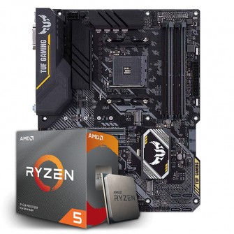 Kit Upgrade Placa Mãe Asus TUF B450-PRO GAMING, AMD AM4 + Processador AMD Ryzen 5 3600 3.6GHz