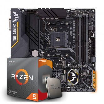 Kit Upgrade Placa Mãe Asus TUF B450M-PRO GAMING, AMD AM4 + Processador AMD Ryzen 5 3600 3.6GHz