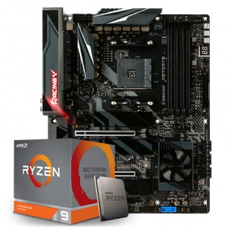 Kit Upgrade PLACA MÃE BIOSTAR RACING X570GT8, AMD AM4 + Processador AMD Ryzen 9 3900x 3.8GHz