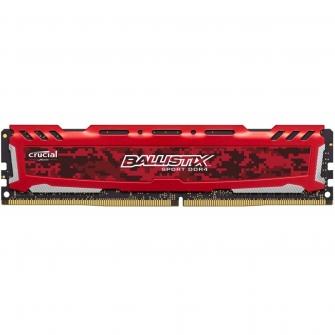 Memória DDR4 Crucial Ballistix Sport LT, 4GB 2400MHz, Red, BLS4G4D240FSE