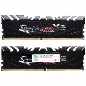 Memória DDR4 G.Skill Flare X, 16GB (2x8GB) 2933MHz, F4-2933C14D-16GFX
