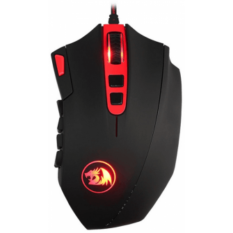 Mouse Gamer Redragon Perdition 2 M901-1 RGB, 24000 DPI, 18 botões programáveis, Black