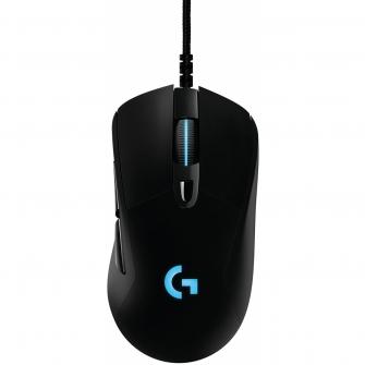 Mouse Logitech Gamer Prodigy G403 RGB 6 Botões 12000 DPI Ajuste de Peso Preto