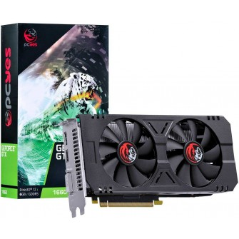 Placa de Vídeo PCyes GeForce GTX 1660 Dual, 6GB GDDR5, 192Bit, PA166019206G5