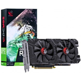 Placa de Vídeo Pcyes Geforce RTX 2060 Dual, 6GB GDDR6, 192Bit, PA206019206G6
