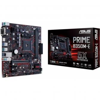 Placa Mãe Asus Prime B350M-E, Chipset B350, AMD AM4, mATX, DDR4