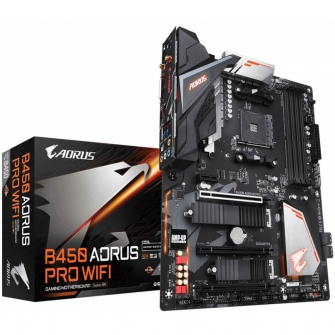 Placa Mãe Gigabyte B450 AORUS PRO WIFI, Chipset B450, AMD AM4, ATX, DDR4