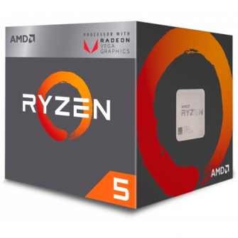 Processador AMD Ryzen 5 2400G 3.6GHz (3.9GHz Turbo), 4-Core 8-Thread, Cooler Wraith Stealth, AM4, YD2400C5FBBOX