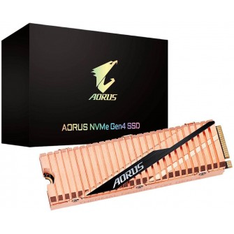 SSD Gigabyte Aorus NVMe Gen4 500GB, M.2 2280, Leitura 5000MBs e Gravação 2500MBs