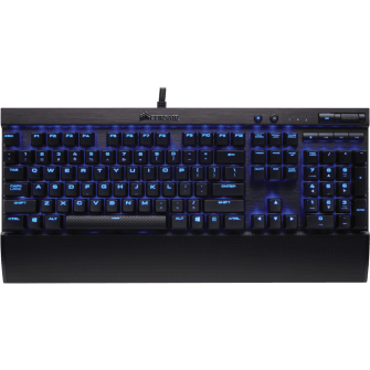 Teclado Mecânico Gamer Corsair K70 LUX Switch Cherry MX Red LED Azul CH-9101030-BR ABNT2