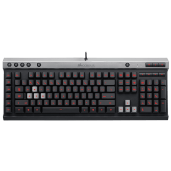 Teclado Corsair Raptor K30 RED BACKLIGHTING CH-9000224-BR USB ABNT2