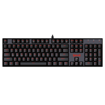 Teclado Mecânico Gamer Redragon Mitra K551, Switch Blue, ABNT2, Black