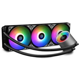 Water Cooler GamerStorm DeepCool Castle, RGB 360mm, Intel-AMD, DP-GS-H12L-CSL360RGB