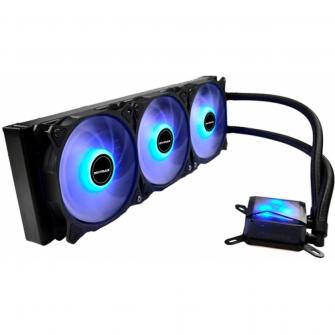 Water Cooler Mymax Algor, LED Blue 360mm, Intel-AMD, MYC-FC-V2-360-BL