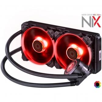 Water Cooler PCYES Nix, RGB 240mm, Intel-AMD, PWC240H40PTRGB