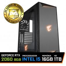Pc Gamer Gigabyte Lvl-1 Intel Core i5 9400F / GeForce RTX 2060 8GB / DDR4 16GB / HD 1TB / SSD 240GB / 650W