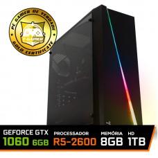 Pc Gamer Ideal 2018 Amd Ryzen 5 2600 / Geforce GTX 1060 6GB / DDR4 8GB / HD 1TB / 500W