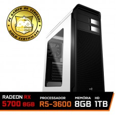 Pc Gamer Ideal 2019 Amd Ryzen 5 3600 / Radeon RX 5700 8GB / DDR4 8GB / HD 1TB / 600W