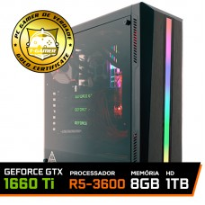 Pc Gamer Ideal 2019 Amd Ryzen 5 3600 / Geforce GTX 1660 Ti / DDR4 8GB / HD 1TB / 500W