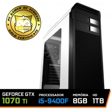 Pc Gamer Super Soldier Edition Intel Core I5 9400F / Geforce Gtx 1070 TI / DDR4 8GB / HD 1TB / 600W