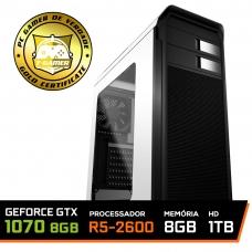 Pc Gamer Super Streamer Edition Amd Ryzen 5 2600 / Geforce GTX 1070 8GB / DDR4 8GB / HD 1TB / SSD 120GB / 500W