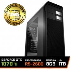 Pc Gamer Super Streamer Edition Amd Ryzen 5 2600 / Geforce GTX 1070 Ti / DDR4 8GB / HD 1TB / SSD 120GB / 600W