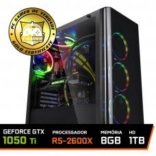 Pc Gamer Super Streamer Lvl-1 Amd Ryzen 5 2600X / Geforce Gtx 1050 Ti 4gb / DDR4 8Gb / Hd 1tb / 500W
