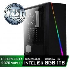 Pc Gamer Super Tera Edition Intel i5 9600K / Geforce RTX 2070 Super / DDR4 8GB / HD 1TB / 600W