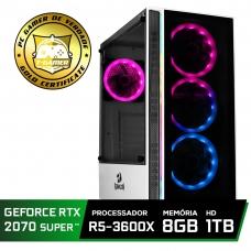 Pc Gamer Super Tera Edition AMD Ryzen 5 3600X / GeForce RTX 2070 Super / DDR4 8GB / HD 1TB / 600W / RZ3