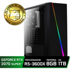 Pc Gamer Super Tera Edition AMD Ryzen 5 3600X / GeForce RTX 2070 Super / DDR4 8GB / HD 1TB / 600W