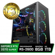 Pc Gamer Super Tera Edition AMD Ryzen 5 2600 / GeForce RTX 2070 Super / DDR4 8GB / HD 1TB / 600W
