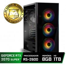 Pc Gamer Super Tera Edition AMD Ryzen 5 2600 / GeForce RTX 2070 Super / DDR4 8GB / HD 1TB / 600W