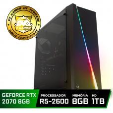 Pc Gamer Super Tera Edition AMD Ryzen 5 2600 / GeForce RTX 2070 / DDR4 8GB / HD 1TB / 600W