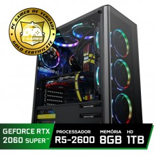 Pc Gamer Super Tera Edition AMD Ryzen 5 2600 / GeForce RTX 2060 Super / DDR4 8GB / HD 1TB / 500W