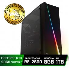 Pc Gamer Super Tera Edition AMD Ryzen 5 2600 / GeForce RTX 2060 Super / DDR4 8GB / HD 1TB / 500W