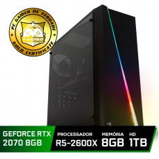 Pc Gamer Super Tera Edition AMD Ryzen 5 2600X / GeForce RTX 2070 / DDR4 8GB / HD 1TB / 600W