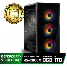 Pc Gamer Super Tera Edition AMD Ryzen 5 2600X / GeForce RTX 2060 Super / DDR4 8GB / HD 1TB / 500W