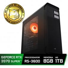 Pc Gamer Super Tera Edition AMD Ryzen 5 3600 / GeForce RTX 2070 Super / DDR4 8GB / HD 1TB / 600W