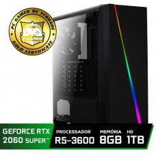 Pc Gamer Super Tera Edition AMD Ryzen 5 3600 / GeForce RTX 2060 Super / DDR4 8GB / HD 1TB / 600W / RZ3